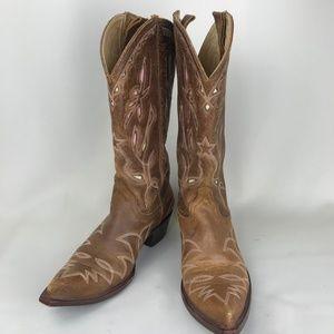 Old Gringo Leaf Cutout Distressed Cowboy Boot 8.5B